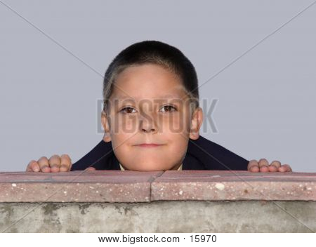 Boy Behind The Fence