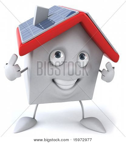 House and solar panels