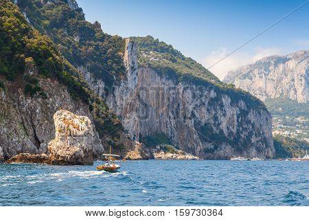 Rocks Of Capri, Italian Island