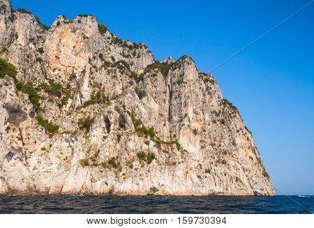 Coastal Landscape With Rocks. Capri Island