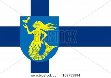 Flag Of Paijanne Tavastia region in Finland.