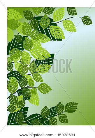 leaf frame vector three in series