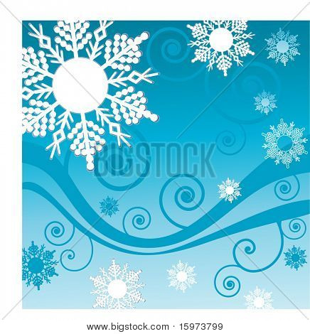 floco de neve e bobina base vector