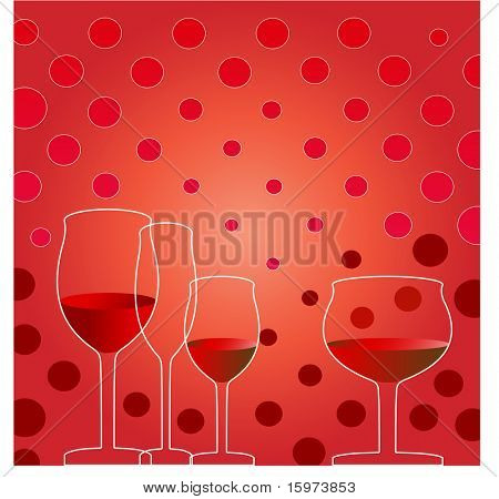 party time wine glasses vector