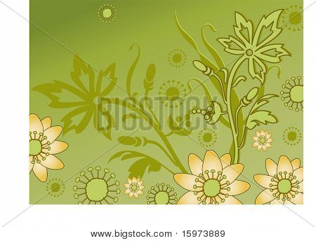 fun flower border vector