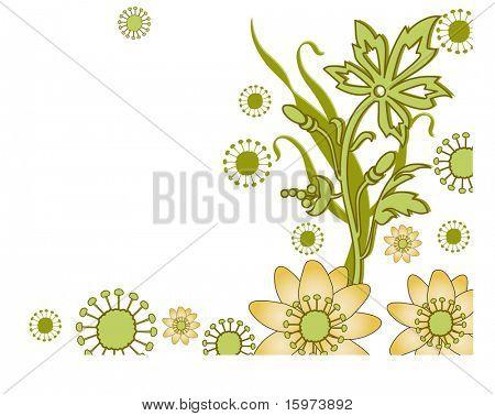 fun flower border vector