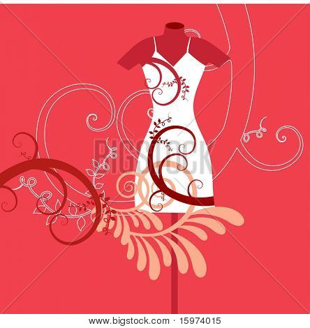mannequin with foliage vector