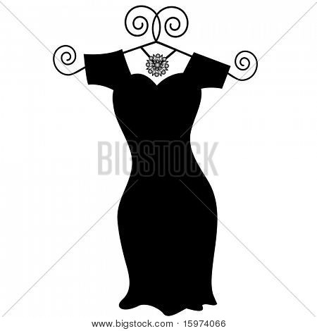 little black dress vector