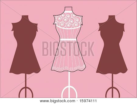 fashion mannequin  bodyforms vectors
