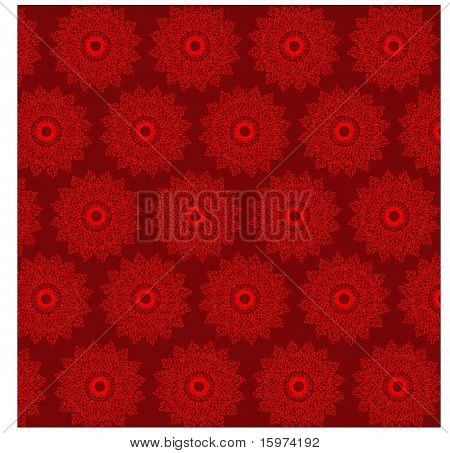red snowflake wrapping paper background vector