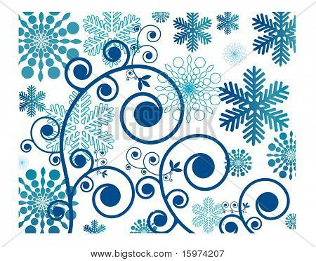 snowflake with decorative coils vector