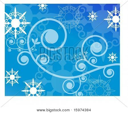 snowflake and coil background vector