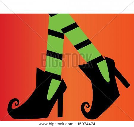witches shoes vector