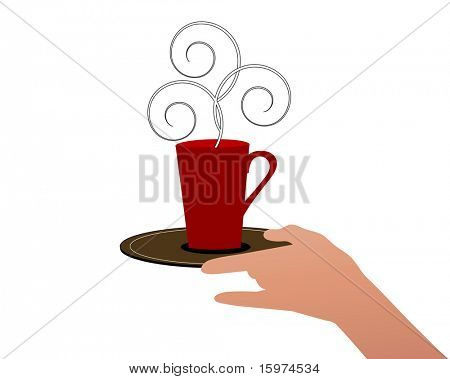 cup of java isolated on white vector