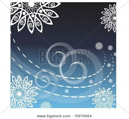 freezing  winter background