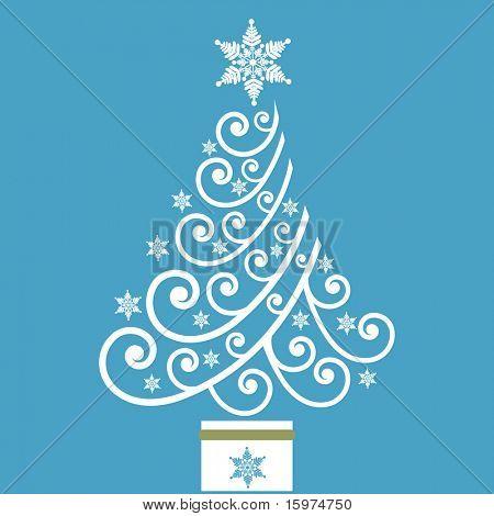 vector de árbol de Navidad de la bobina de la diversión