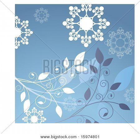 Laub mit coolen Spule Schneeflocken