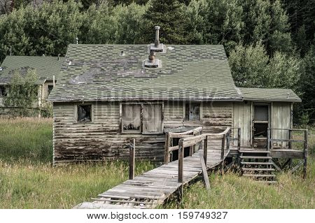 abandoned rural wooden shack house structure outdoors