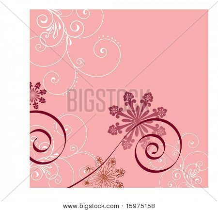 filigree over pink