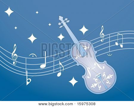 musical notes with guitar