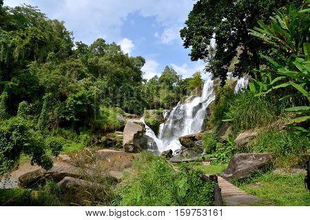 Mae Klang waterfall, Doi Inthanon national park, Chiang Mai, North of Thailand