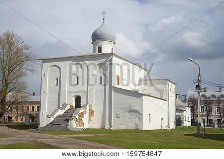 The view of the old Church of the assumption. Veliky Novgorod, Russia