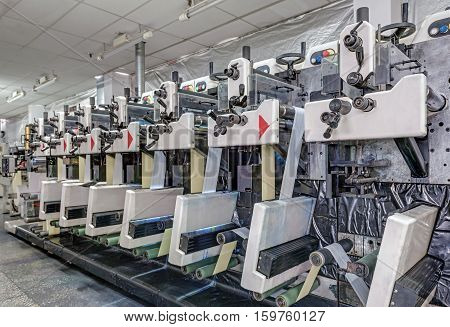 printing factory. machine for printing stickers .