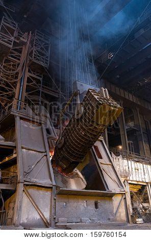 Ironworks . furnace metal boot process .