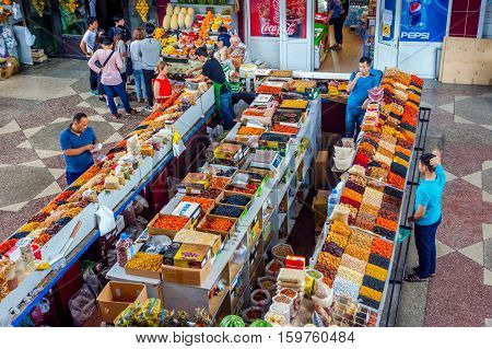 Dry Fruits For Sale At Green Bazaar, Almaty
