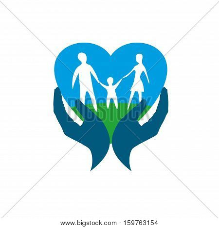 Template design logo family. Vector illustration of icon