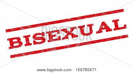 Bisexual watermark stamp. Text tag between parallel lines with grunge design style. Rubber seal stamp with unclean texture. Vector red color ink imprint on a white background.