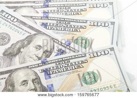 Macro close up of the US dollar bill.