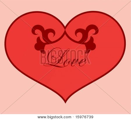 decorative heart use with or without text