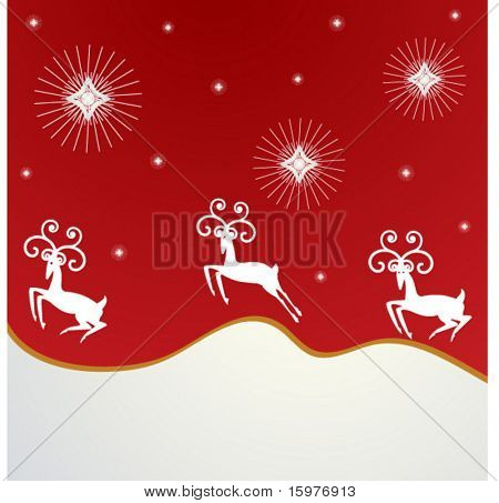 reindeer guided by stars