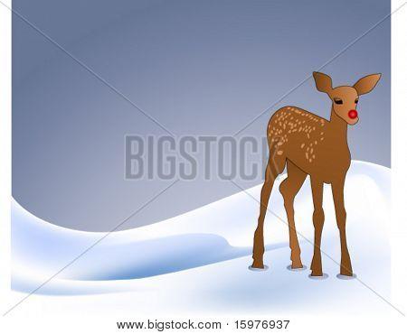 reindeer on snowbank - use together or separately