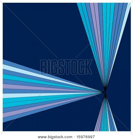 prism in blues background
