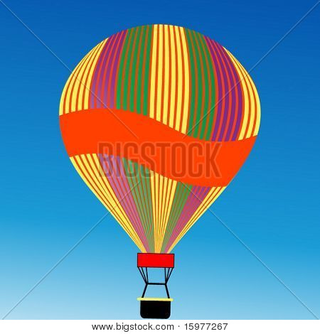 hot air balloon with banner for your message