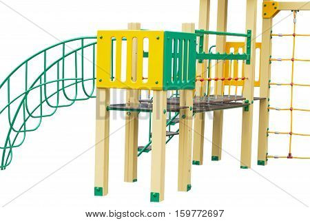 the Children's playground on a white background