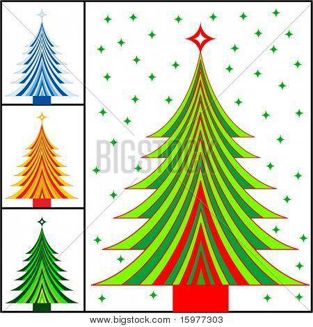 opções de cores de árvore de Natal listrada