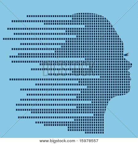 techno profile of woman