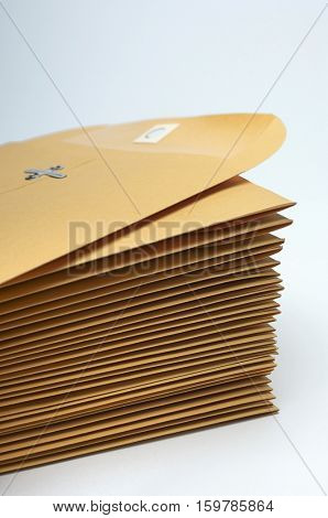 Stack of brown envelopes