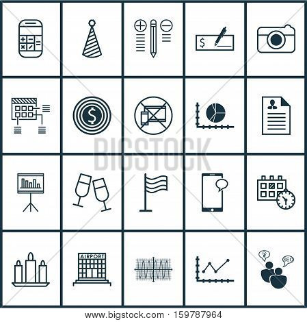 Set Of 20 Universal Editable Icons. Can Be Used For Web, Mobile And App Design. Includes Elements Such As Street, SEO Brainstorm, Pin And More.