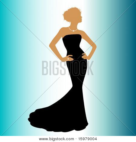 woman in couture dress
