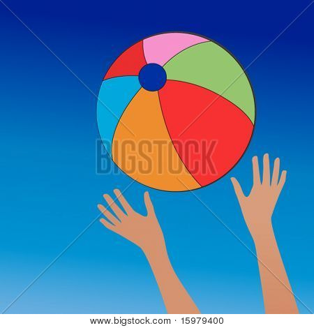 jogo de bola de praia