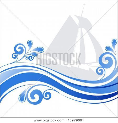 ship with waves (use together or separately)