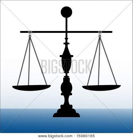 Scales of Justice balanced