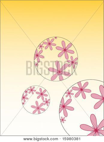 flowers in circle