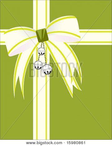 Abrigo de Navidad de proa con campanas y cinta