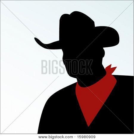 Cowboy with handkerchief around neck