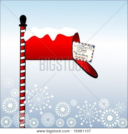mailbox with letter to santa 1 0f 3